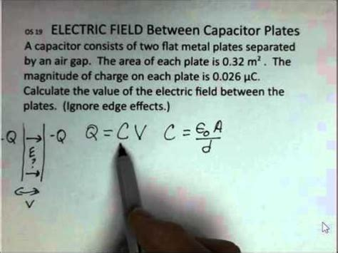 Electric Field Between the Plates of a Capacitor - YouTube